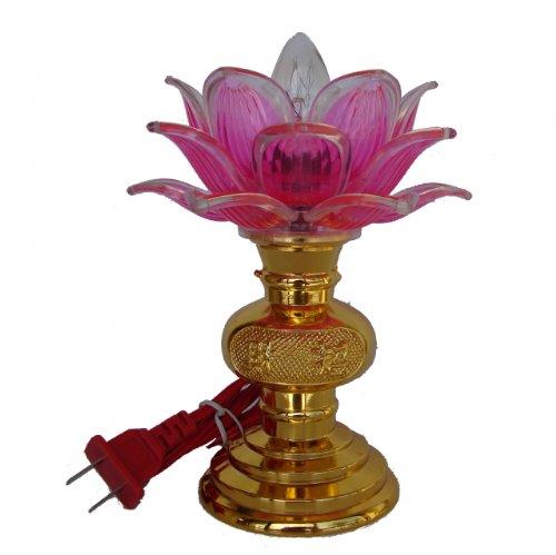 Lotus Buddha Lamp, Lotus Lights For Buddha Altar