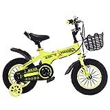 ZMDZA Bicicletas for niños, Bicicletas de niño for niños y niñas, 12 de 14 Pulgadas con Ruedas de Entrenamiento, Bicicletas de montaña Plegable for Bicicleta Urbana Campo a través