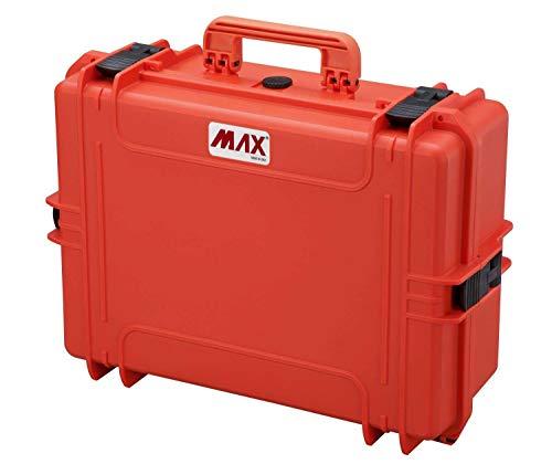 Max Cases - valigetta Vuota a Tenuta Stagna, Ermetica per Trasportare e Proteggere Apparecchiature e Materiali Sensibili, MAX505V Arancione, Dimensioni Interne 500 x 350 x 194 mm