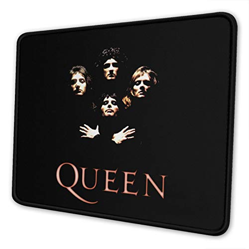 DFHDFH Queen Rock Band Freddie Mercury Gaming Mouse Pad with Stitched Edge Premium-Textured Mouse Mat, Non-Slip Rubber Base Square Mousepad 10 x 12 inch