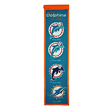 NFL Miami Dolphins Heritage Banner