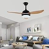 Lámpara LED de 100 cm para techo, ventilador, luz de 3 colores, mando a distancia, para salón, dormitorio, habitación de los niños, salón