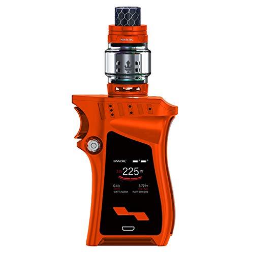 E-Zigaretten Starterset,Smok Mag Kit 225W Vape TC Box Mod mit Top Refill Verdampfer TFV12 Prince Tank Coils Köpfe Q4 T10 E-Shisha DTL Ohne Nikotin (Orange)