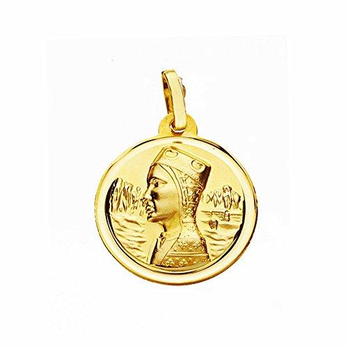 Medalla Oro 18K Virgen Montserrat 18mm. Lisa Bisel [Aa2562Gr] - Personalizable - Grabación Incluida En El Precio