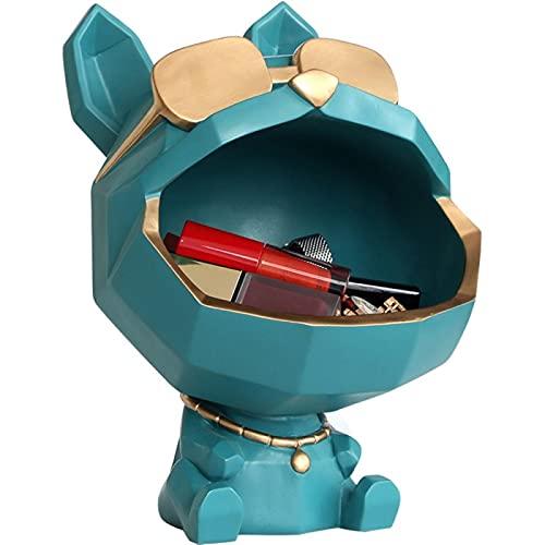 Caja de almacenamiento de boca grande para perro divertido, luz de lujo, llave de porche, armario de TV, caja de almacenamiento de Control remoto, caja de almacenamiento para decoración del hogar