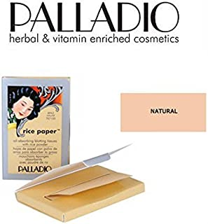 2 Pack Palladio Beauty Rice Paper RPA3 Natural