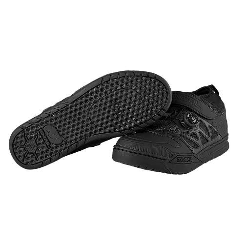 O NEAL | Zapatilla de Ciclismo | MTB Downhill Freeride | Suela Compatible con la Placa del Pedal SPD, Sistema de Encaje rápido | Zapatilla SPD de sesión Unisex | Adultos | Negro | Talla 42