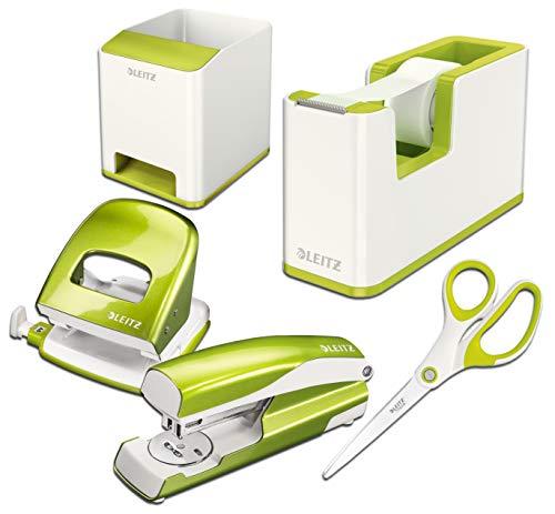 Leitz Wow Schreibtisch Accessoires (Komplett - Set, Weiß ? grün)