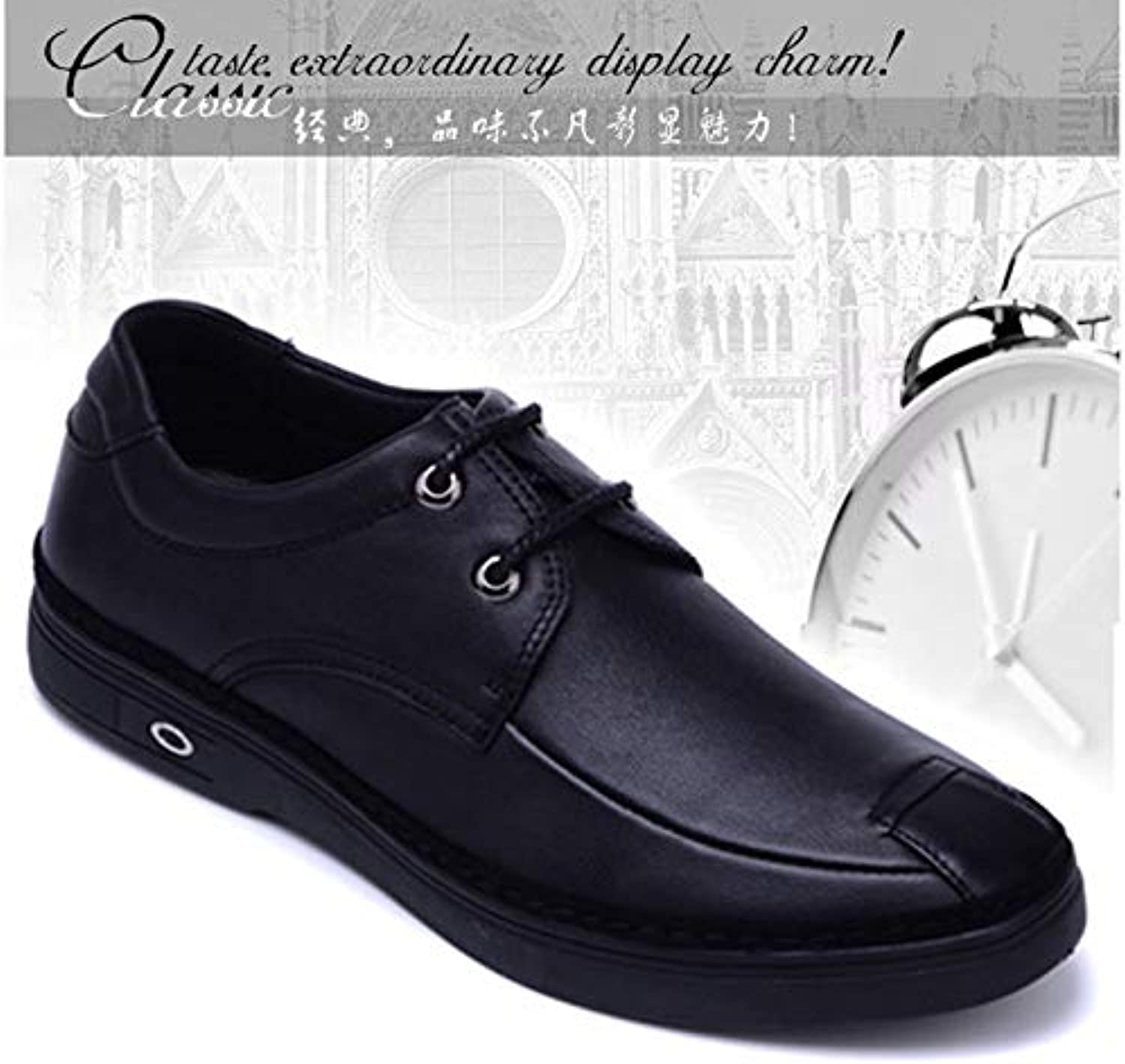 LOVDRAM Men'S shoes Leather Men'S shoes Business Casual shoes Leather shoes With Men'S shoes Autumn And Winter New Recommended