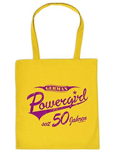 Geschenkidee zum Geburtstag für Powerfrauen German Powergirl seit 50 Jahren Tasche Geschenk zum 50 Geburtstag 50 Jahre