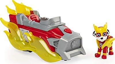 PAW PATROL 6056841, Mighty Pups Vehículo de Lujo de Marshall Cargado con Luces y Sonidos, Multicolor por Spin Master