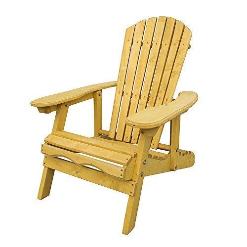 Trueshopping Outdoor Adirondack Garden Patio Chair - Wide Armchair with...