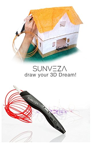 3D Printing Pen – The Ultimate Air Drawing Kit – Professional Innovative Design LED Screen Handheld Craft Art Doodler + 4 Colors Shovel & Free Templates to Download – Next Generation Scribbler 3Dpen