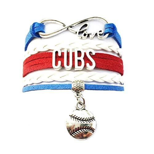 DOLON Infinity Love Cubs Baseball Bracelet Handmade Sports Cheering Charm Team Bracelet