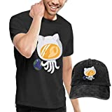 fghjfgdjhfd Camiseta de Manga Corta para Hombre,Octonaut Mens Funny T-Shirt and Baseball Cap Set, Short Sleeve T Shirt with Hat for Men Graphic Combination