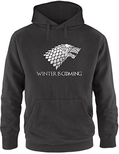EZYshirt® Game of Thrones   Winter is Coming   Schattenwolf Herren Hoodie