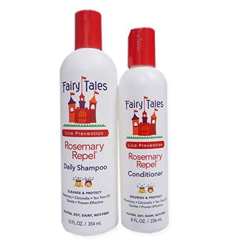 Fairy Tales Rosemary Repel Daily Kid Shampoo (12 Fl Oz) & Conditioner (8 Fl Oz) Duo for Lice Prevention, Combo 3