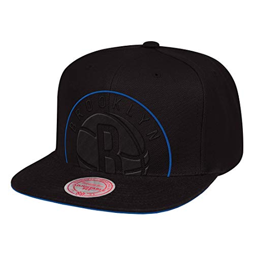 Mitchell & Ness Brooklyn Nets Cropped XL Black Snapback