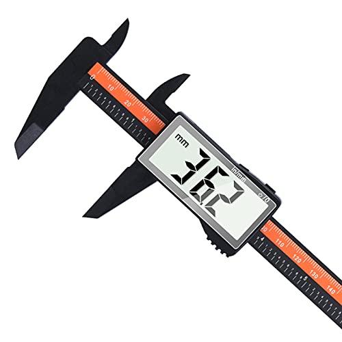 Calibro Digitale 0-150 mm / 0-6', Lytool Calibro Plastica con Ampio Display LCD, Inch/Millimete, Calibro a Corsoio per Misurazioni Esterne, Interne, di Profondità e Passo