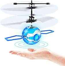 Flying Toy Ball,Infrared Induction UFO RC Flying Toy,Built-in LED Flying Drone Indoor and Outdoor Games,UFO Flying ball Toys for 6 7 8 9 10 Year Old Boys and Girls