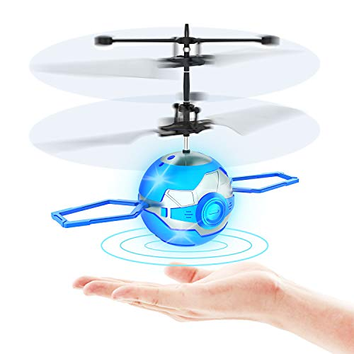 CUKU Flying Toy Ball,Infrared Induction UFO RC Flying Toy,Built-in LED Flying Drone Indoor and Outdoor Games,UFO Flying Ball Toys for 6 7 8 9 10 Year Old Boys and Girls