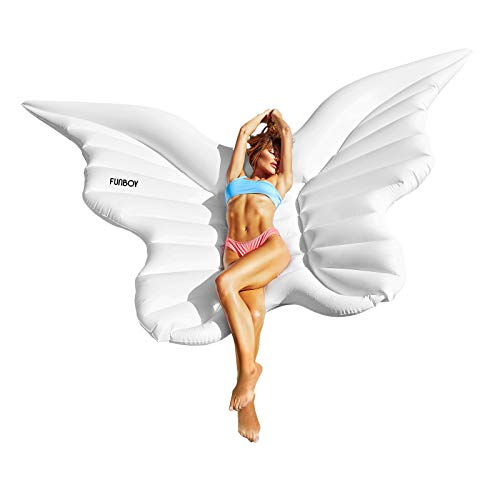FUNBOY Giant Inflatable Luxury Angel Wings Pool Float, Perfect for a Summer Pool Party