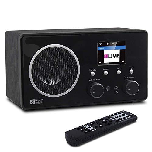 Ocean Digital WR282CD Digital-Radio DAB/DAB + / FM Internetradio mit Bluetooth und WiFi drahtlose Hölzern Desktop-Medien-Musik-Player mit 10W mit satten Bässen im Klang