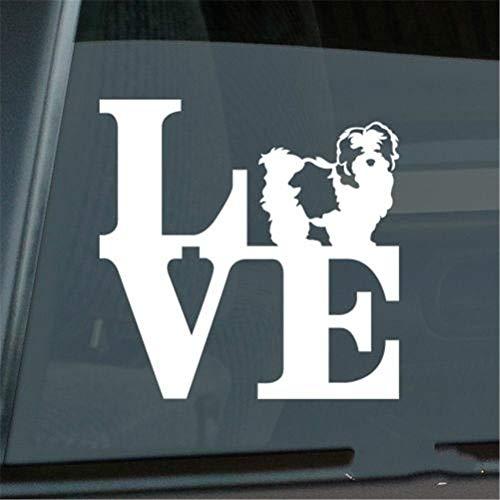 Autosticker, autosticker, liefde, shih Tzu sticker, die cut park leeuw dog raam sticker grootte (inch): 5,50 x 5,50
