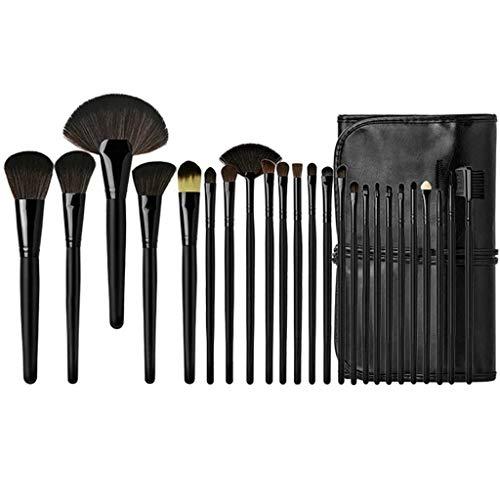 GCX- Maquilleur 24 Maquillage Brush Set beauté Ensemble Complet d'outils Poils d'un Animal débutant Studio Brosse Beau (Color : Black)