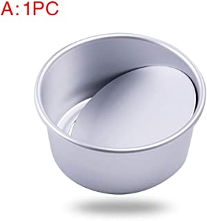 Molde redondo de aluminio anodizado para tartas de queso, molde de gasa para hornear con