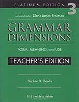 Teacher's Edition (Grammar Dimensions 3)