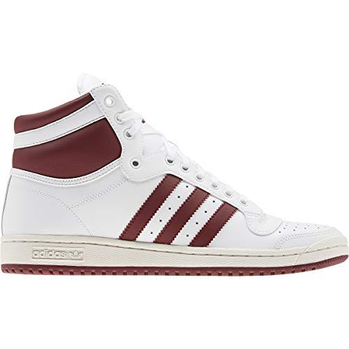 adidas Top Ten Hi - Zapatillas para hombre, color blanco, talla 42 2/3