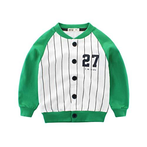 AIKSSOO Enfant Manteau à Manche Longueur en Coton à la Mode Garçon Fille Blouson Size 130 (Green)