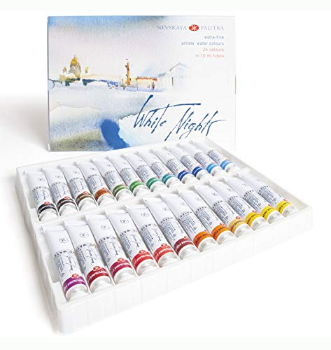 Honsell 11227 - Set di colori ad acquerello White Nights da 10 ml in tubetti