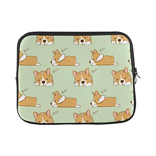 Cute Corgi Dog Laptop Sleeve Case 15 15.6 Inch Briefcase Cover Protective Notebook Laptop Bag