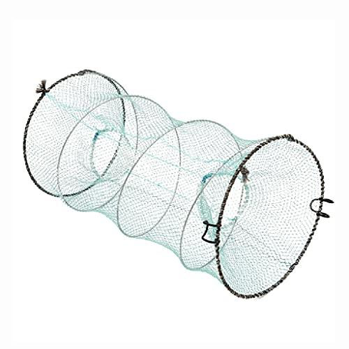 BBGS Portable Foldable Bait Traps Fishing Nets, Crab Crawfish Lobster Shrimp Collapsible Cast Bait Trap Nylon Net, 33x60cm/50x85cm (Size : 33x60cm)