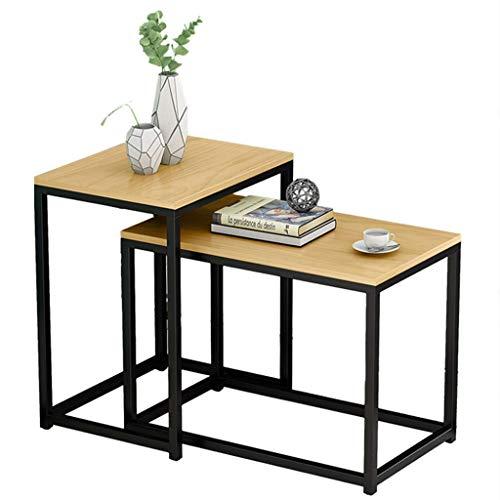 PAKUES-QO Home D & Eacute; Cor Furniture Mesa De Centro Apilable, Mesas...