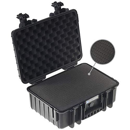 B&W Transportkoffer Outdoor Typ 4000 schwarz mit Würfelschaum - wasserdicht nach IP67 Zertifizierung, staubdicht, bruchsicher und unverwüstlich