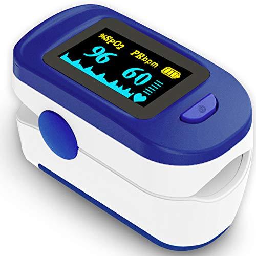 Wellue Monitor de saturación de oxígeno en sangre con las baterías y el cordón para el uso de bienestar FS20C ✅