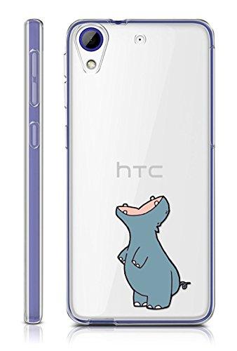 Sunrive HTC Desire 650/628 / 626 / 626G Hülle Silikon, Transparent Handyhülle Schutzhülle Etui Hülle Backcover für HTC Desire 650/628 / 626 / 626G(TPU Nilpferd)+Gratis Universal Eingabestift