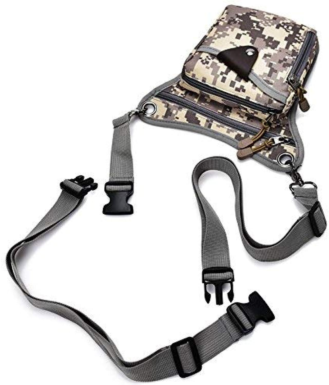 HUAIX Home Casual Bag Herren Herren Herren Gürteltasche Brusttasche Outdoor Sports Schulter Messenger Rucksack (Grau Camouflage) B07L4LT8WF  Mode dynamisch 5561f0