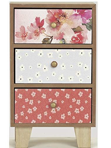Vintage Boutique - Caja de almacenamiento con 3 cajones