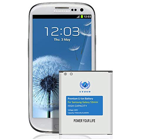 LTZGO Batteria Interna Sostitutiva Compatibile per Samsung Galaxy S3 MINI 1700mAh Corrisponde a EB-F1M7FLU Batteria Agli Ioni di Litio Modello Galaxy S3 MINI GT-i8190N GT-i820N Senza NFC