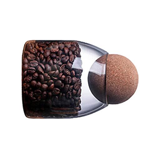 UPKOCH Glas Voedsel Opslag Pot Transparant Borosilicaat Luchtdicht Afgesloten Blik Container Bus Met Kurk Voor Specerijen Suiker Koffie Koekjes Snoep 500Ml