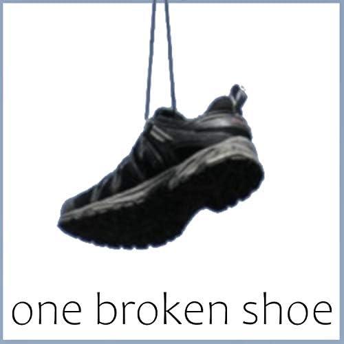 one broken shoe