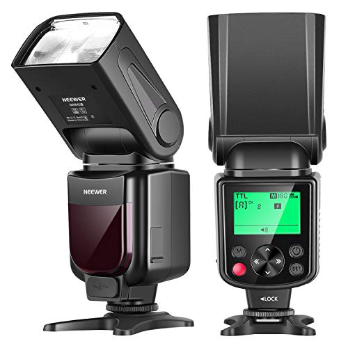 Neewer NW645-N TTL Slave GN58 Camera Flash Speedlite, HSS 1/8000s with LCD Display Compatible with Nikon DSLRs D810/D800/D750/D700/D610/D600/D7500/D7200/D7100/D7000/D5500/D5300/D90/D5/D4/Z7