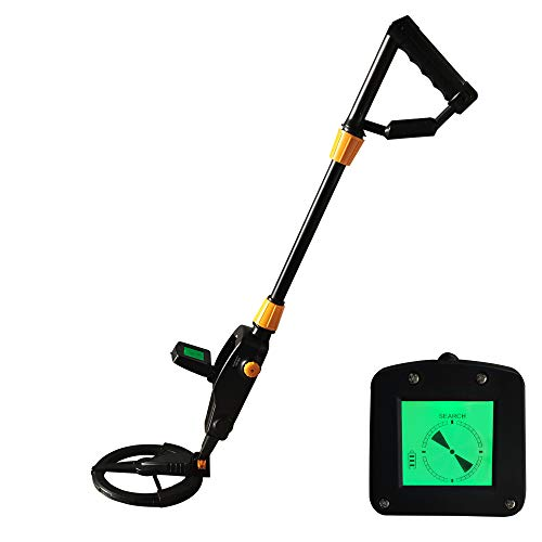 DUEBEL Metal Detector for Adults Kids, Lightweight Metal Detector Pinpointer High Accuracy with LCD Display for Metal Detecting and Treasure Hunting Beginners (Black)