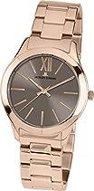 Jacques Lemans Damen-Armbanduhr Rome Analog Quarz Edelstahl beschichtet 1-1840R