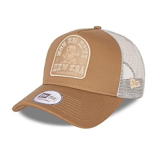 New Era Trucker Cap verstellbar American Sports Basecap Kappe Snapback American Football beige - One-Size