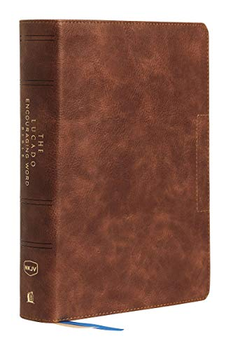 NKJV, Lucado Encouraging Word Bible, Leathersoft, Brown, Thumb Indexed, Comfort Print: Holy Bible, New King James Version